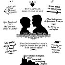 "Snow White and Prince Charming ""Iconic Quotes"" Silhouette Design by Marianne Paluso"