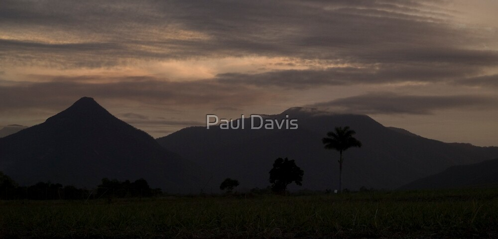 The Mystical Pyrimad and Mount Bartle Frere at dusk by Paul Davis
