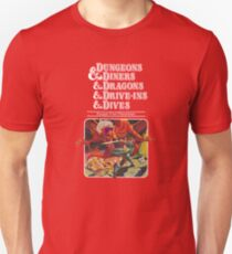 Dungeons & Diners & Dragons & Drive-Ins & Dives: Escape from Flavortown Slim Fit T-Shirt
