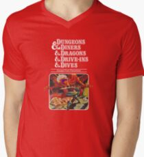 Dungeons & Diners & Dragons & Drive-Ins & Dives: Escape from Flavortown Men's V-Neck T-Shirt