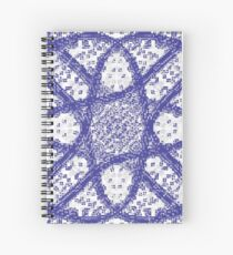 pattern, design, tracery, weave Spiral Notebook