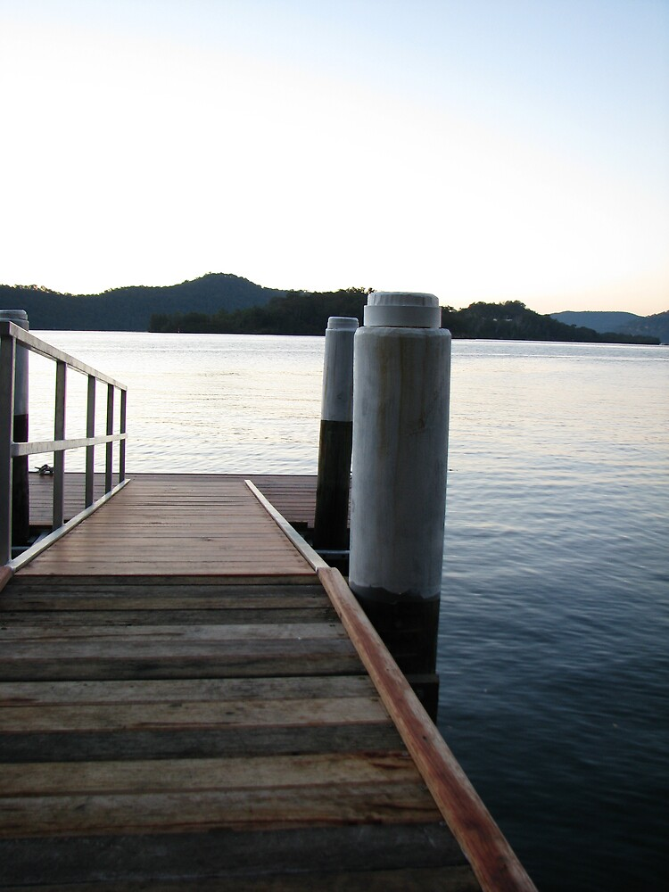 Jetty before sunrise by Kelly Simpson