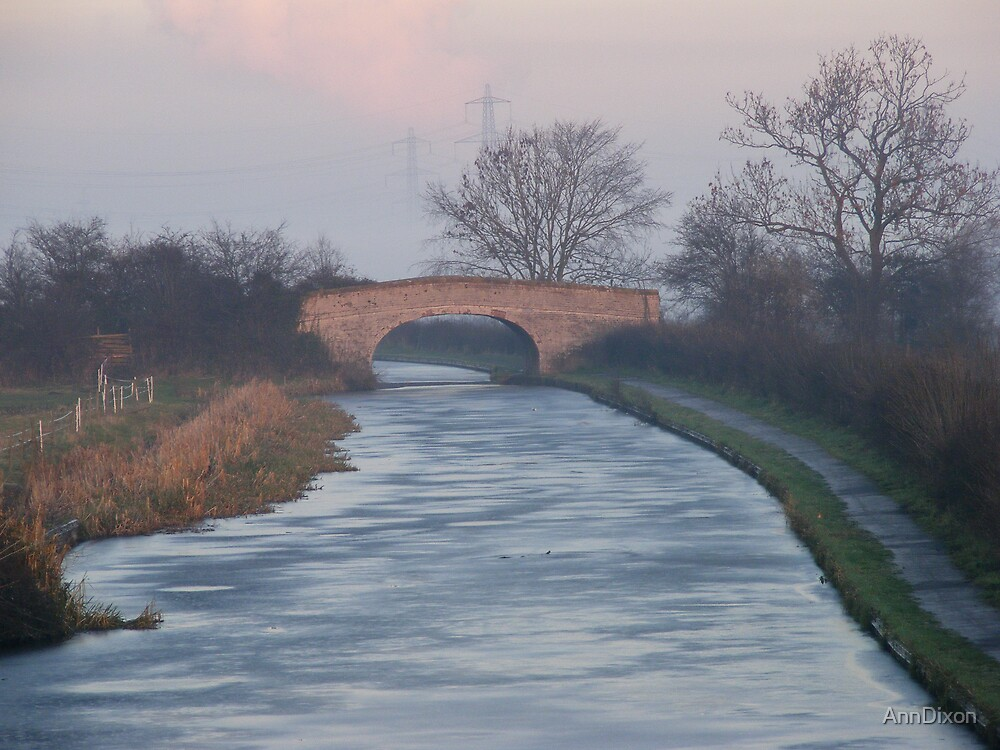 The Frozen Canal by AnnDixon