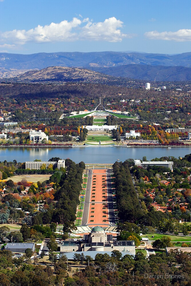 Anzac Parade - Canberra by Darren Stones