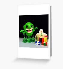 Slimer Birthday Greeting Card
