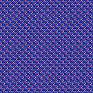Stylized Diamond Pattern - Blue by Buckwhite