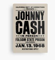 Lienzo metálico Johnny Cash en Folsom