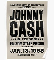 Johnny Cash at Folsom Poster