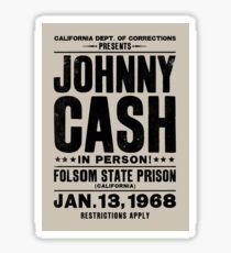 Johnny Cash bei Folsom Sticker