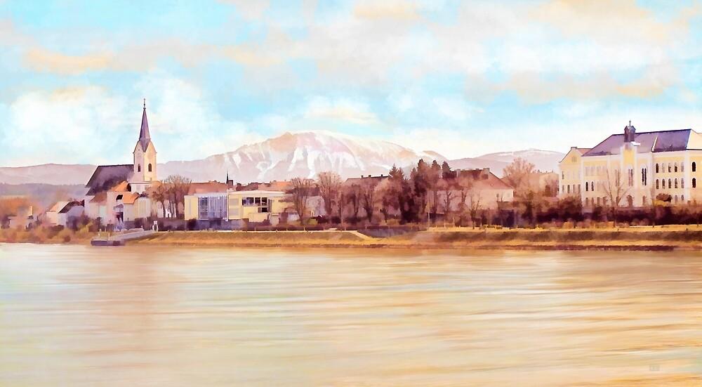 Ybbs an der Donau mit Oetscher by Menega  Sabidussi