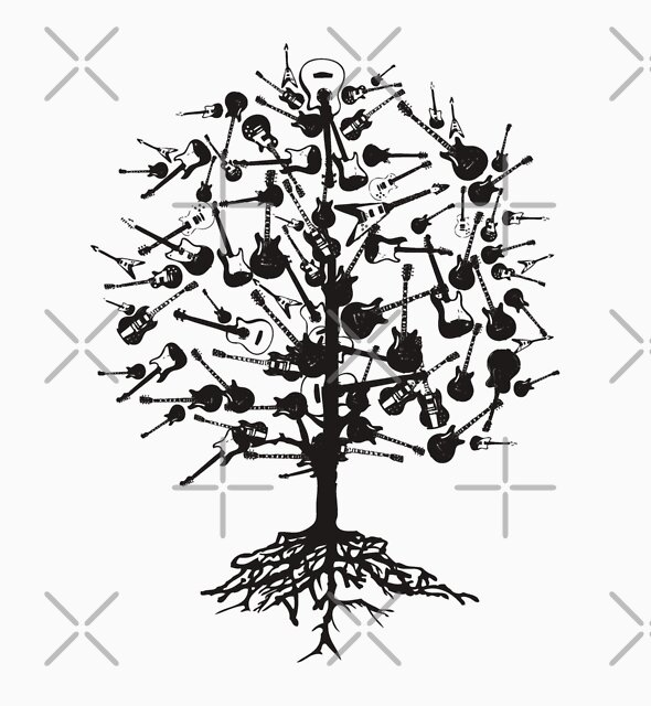 Guitars Tree Roots by cottonklub