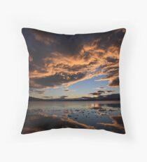 Ralphs Bay sunset 2009, Tasmania Throw Pillow