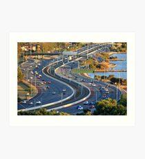 Kwinana Freeway from King's park Art Print