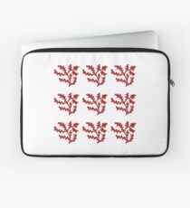 red shrub Laptop Sleeve