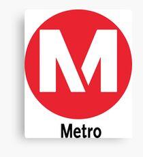Red Line Metro Los Angles California Los Angles Raised Me Canvas Print