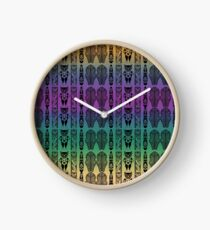 African Ethnic Print Clock