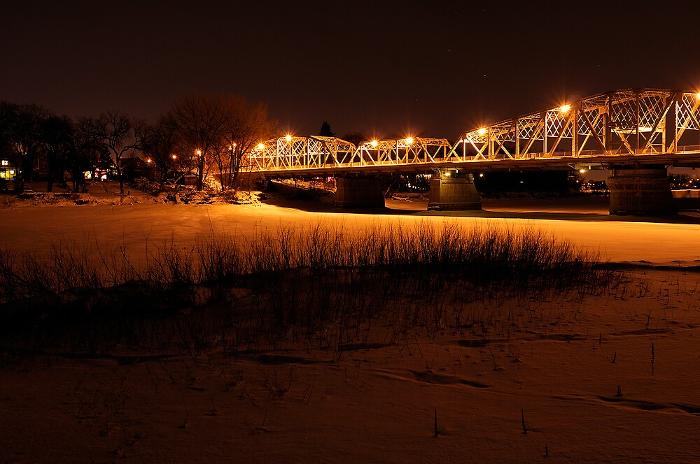 Redwood Bridge on the Red River by Geoffrey
