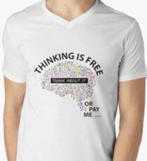Thinking is Free Men's V-Neck T-Shirt