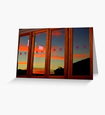 Mirrored Sunset Greeting Card