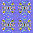 Angelfish Aquarium Fractal Abstract by Artist4God