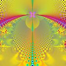 Butterfly in the Sunlight Fractal Abstract by Artist4God