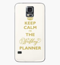 Keep Calm I am The Wedding Planner | Gold On Ivory Background Case/Skin for Samsung Galaxy