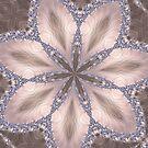 Diamond and Pearl Fractal Flower Mandala Kaleidoscope 1 by Artist4God
