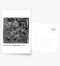 Lino Cut Print 2 Postcards