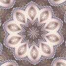 Diamond and Pearl Fractal Flower Mandala Kaleidoscope 3 by Artist4God