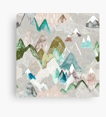 Call of the Mountains (in misty)  Canvas Print