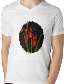Amaryllis Mens V-Neck T-Shirt