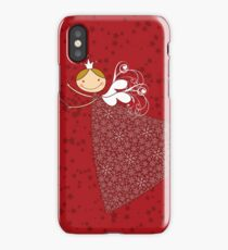 Whimsical Magical Snowflakes Fairy iPhone Case/Skin