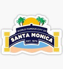 Santa Monica Geotag Sticker