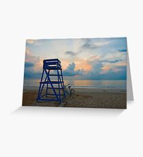 Blues On North Beach Greeting Card