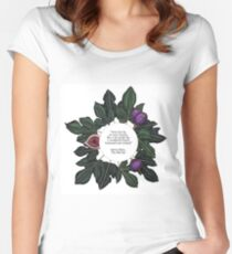 Fig Quote Print - The Bell Jar - Sylvia Plath Women's Fitted Scoop T-Shirt