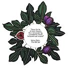 Fig Quote Print - The Bell Jar - Sylvia Plath by Olivia McNeilis
