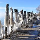 Icy Breakwater by Debbie Stobbart