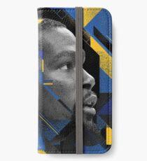 Geometrisches Porträt Kevin Durants iPhone Flip-Case/Hülle/Klebefolie