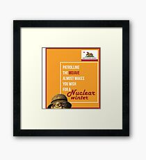 Patrolling the Mojave Framed Print