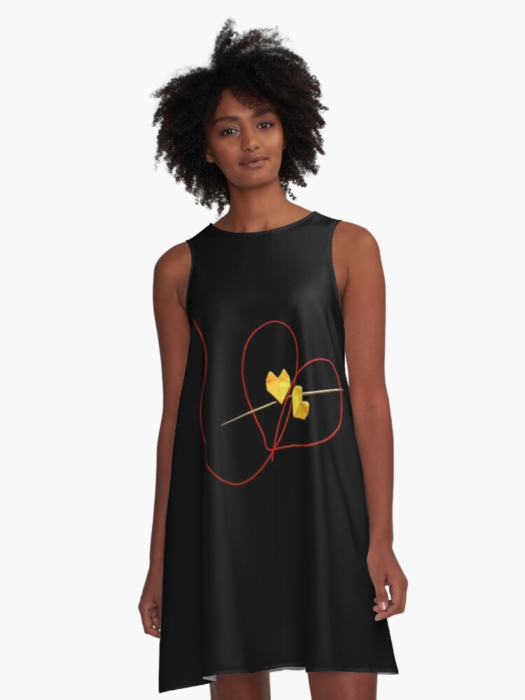 Red String of Fate A-Line Dress Front