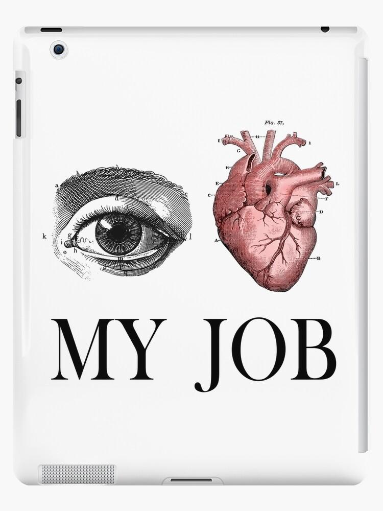 Vinilos y fundas para iPad «Ojo corazón, amo mi trabajo, regalo ...