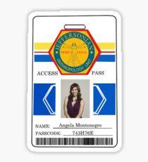 BONES Access Card - Angela Montenegro Sticker