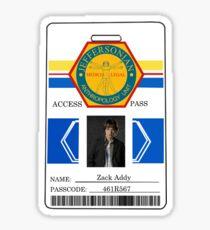 BONES Access Card - Zack Addy Sticker