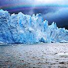 Rain and rainbow on Perito Moreno Glacier by Monica Di Carlo