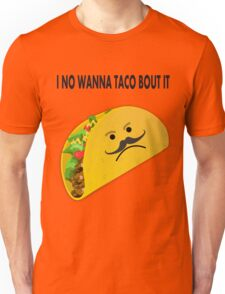 Taco Face Unhappy Pun Unisex T-Shirt