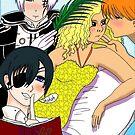 Juliet adored by Kyo Sohma, Allen walker, Ciel Phantomhive by Wendy Crouch