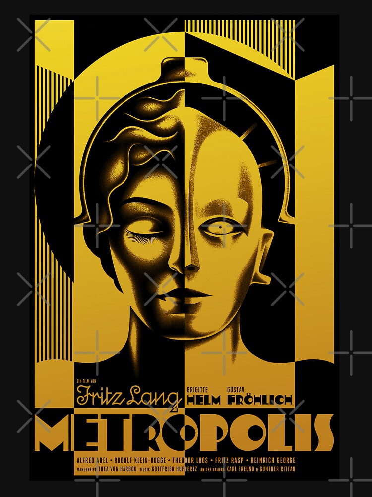 Metropolis - Fritz Lang 1927 Cult Classic Sci Fi Movie by Antxoita