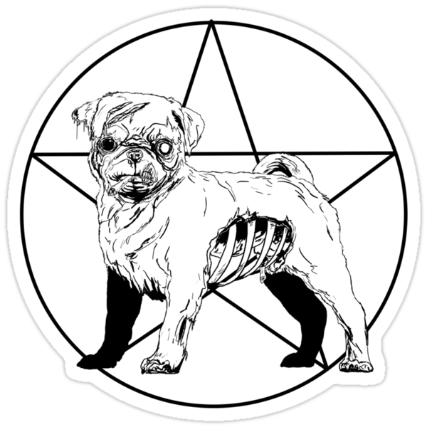 Pug Life Stickers By Crosbydesign