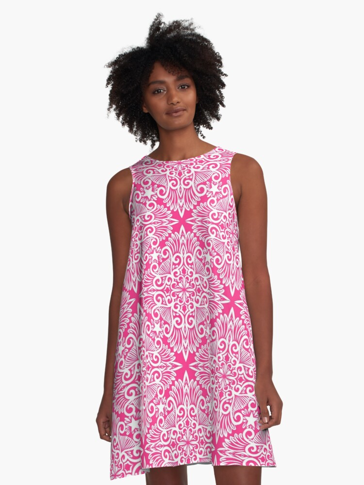 Hot pink Dream root A-Line Dress Front