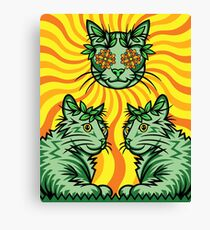 Yellow Sunshine Catnip (Electric Catnip) Canvas Print